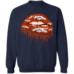Biting Glossy Lips Sexy Denver Broncos NFL Football G180 Crewneck Pullover Sweatshirt 8 oz.