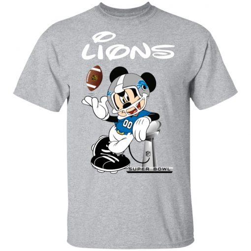 Mickey Lions Taking The Super Bowl Trophy Football Men T-Shirt