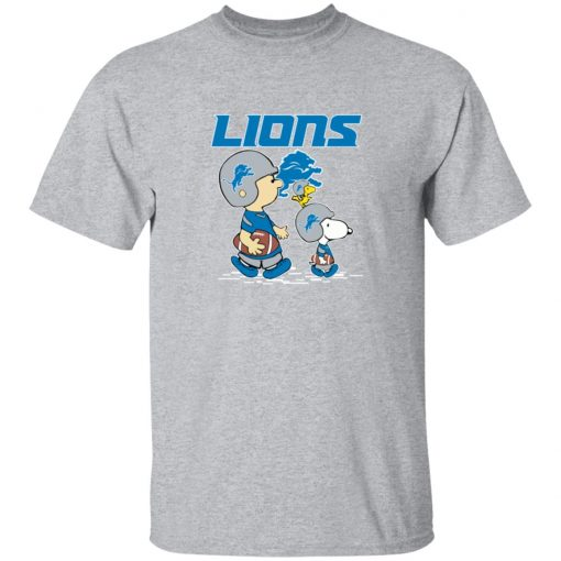 Detroit Lions Let's Play Football Together Snoopy NFL T-Shirt