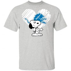 I Love Snoopy Detroit Lions In My Heart NFL T-Shirt