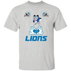 I Love The Lions Mickey Mouse Detroit Lions T-Shirt