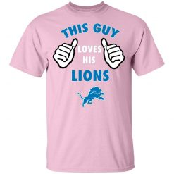 This Guy Loves His Detroit Lions Youth T-Shirt