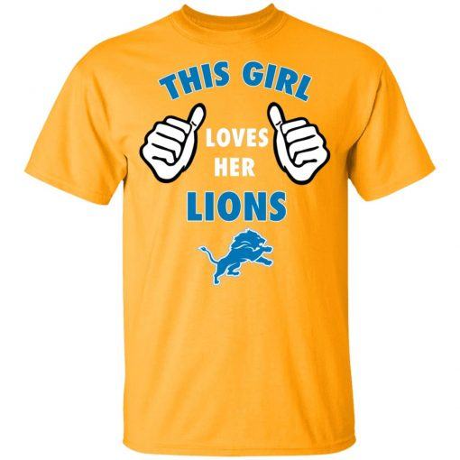 This Girl Loves Her Detroit Lions Youth T-Shirt