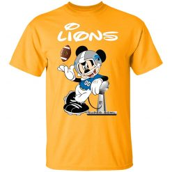 Mickey Lions Taking The Super Bowl Trophy Football Youth T-Shirt