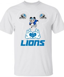 I Love The Lions Mickey Mouse Detroit Lions Youth T-Shirt