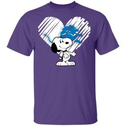 I Love Snoopy Detroit Lions In My Heart NFL Youth T-Shirt