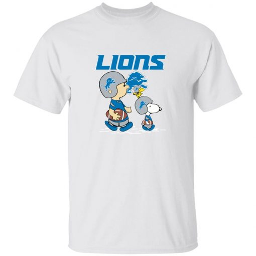 Detroit Lions Let's Play Football Together Snoopy NFL Youth T-Shirt
