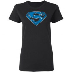 We Are Undefeatable The Detroit Lions x Superman NFL Women T-Shirt