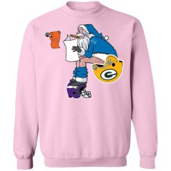 Santa Claus Detroit Lions Shit On Other Teams Christmas Sweatshirt