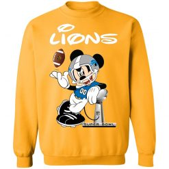 Mickey Lions Taking The Super Bowl Trophy Football Sweatshirt