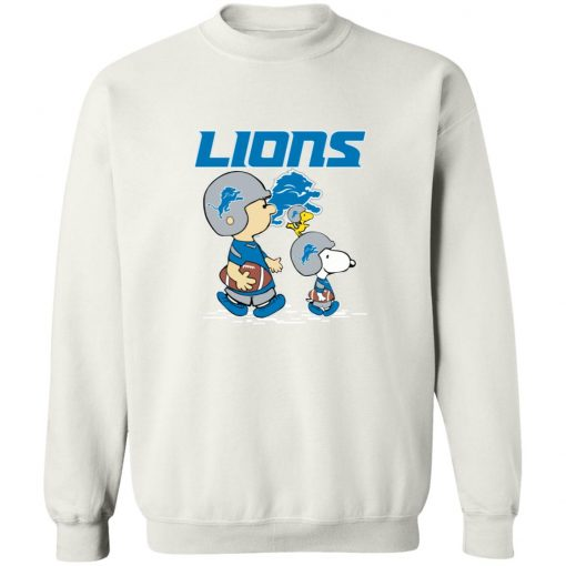 Detroit Lions Let's Play Football Together Snoopy NFL Sweatshirt
