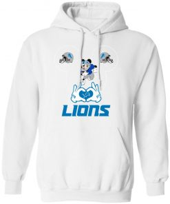 I Love The Lions Mickey Mouse Detroit Lions Hoodie