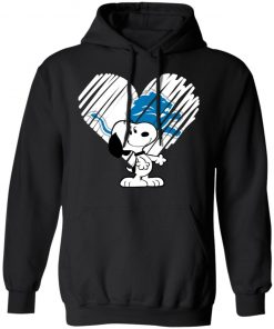 I Love Snoopy Detroit Lions In My Heart NFL Hoodie