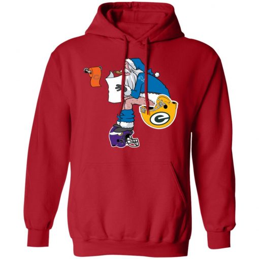 Santa Claus Detroit Lions Shit On Other Teams Christmas Hoodie