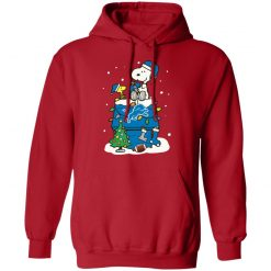 A Happy Christmas With Detroit Lions Snoopy Hoodie