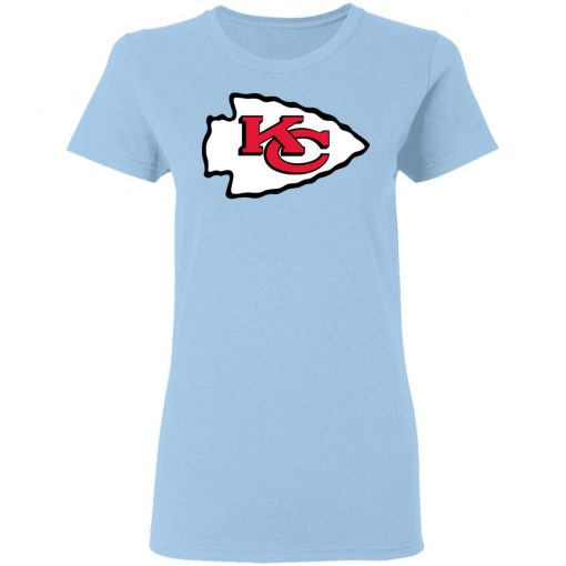 Kansas City Chiefs Line Gray Victory Arch Women T-Shirt
