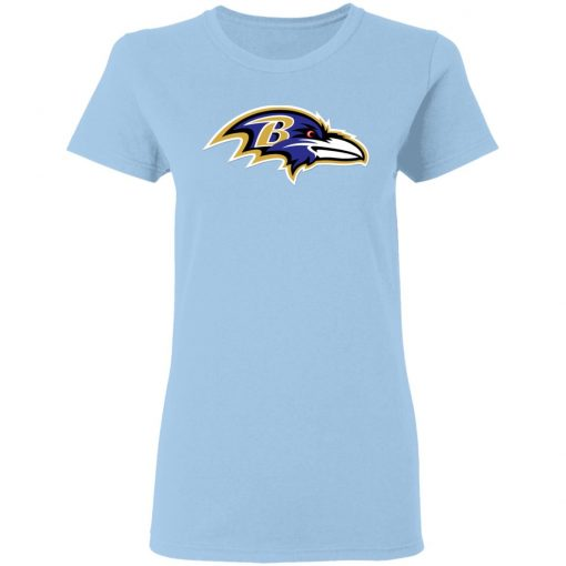 Baltimore Ravens NFL Pro Line by Fanatics Branded Gray Victory Women T-Shirt