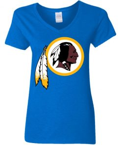 Washington Redskins NFL Pro Line by Fanatics Branded Gray Victory Women V-Neck T-Shirt