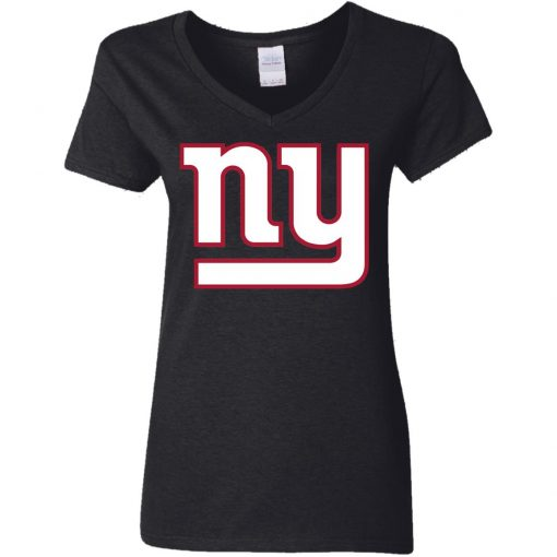 New York Giants NFL Pro Line Gray Victory Women V-Neck T-Shirt