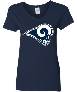 Los Angeles Rams NFL Pro Line by Fanatics Branded Gray Victory Women V-Neck T-Shirt