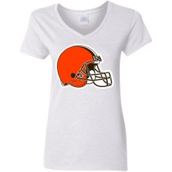 Cleveland Browns NFL Pro Line by Fanatics Branded Brown Victory Women V-Neck T-Shirt