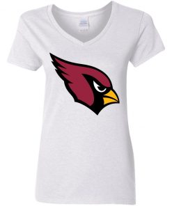 Arizona Cardinals NFL Pro Line by Fanatics Branded Gray Victory Women V-Neck T-Shirt