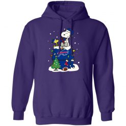 A Happy Christmas With New York Giants Snoopy Hoodie
