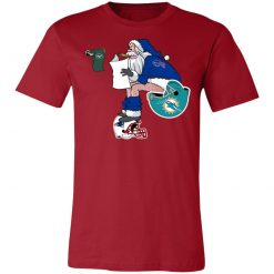 Santa Claus Buffalo Bills Shit On Other Teams Christmas Unisex Jersey Tee
