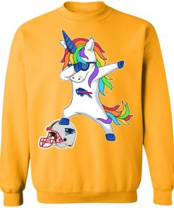 Football Dabbing Unicorn Steps On Helmet Buffalo Bills Sweatshirt