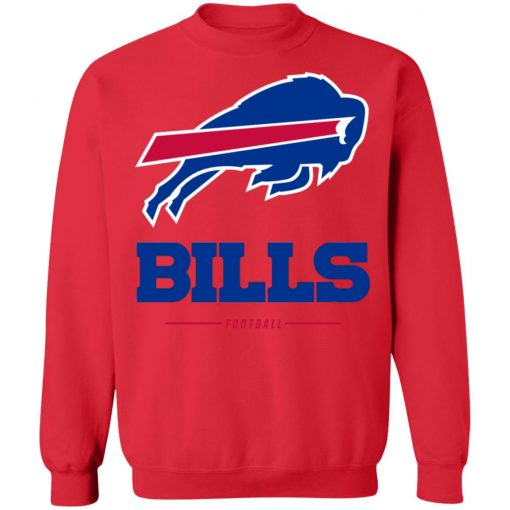 Men_s Buffalo Bills NFL Pro Line White Team Lockup T-Shirt Sweatshirt