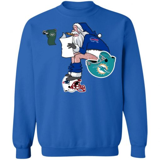 Santa Claus Buffalo Bills Shit On Other Teams Christmas Sweatshirt