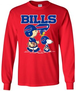Buffalo Bills Let's Play Football Together Snoopy NFL Youth LS T-Shirt