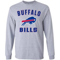 Buffalo Bills NFL Pro Line Gray Victory Arch Youth LS T-Shirt