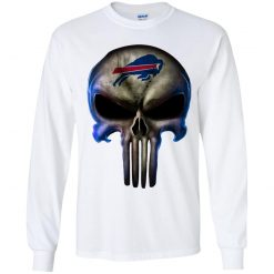 Buffalo Bills The Punisher Mashup Football Youth LS T-Shirt