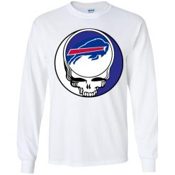 NFL Team Buffalo Bills x Grateful Dead Logo Band Youth LS T-Shirt