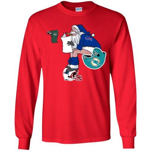 Santa Claus Buffalo Bills Shit On Other Teams Christmas Youth LS T-Shirt