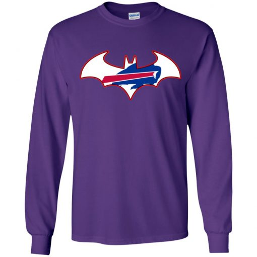 We Are The Buffalo Bills Batman NFL Mashup Youth LS T-Shirt