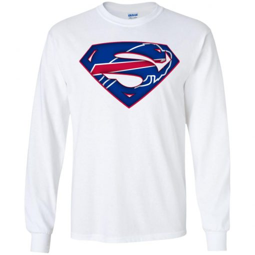 We Are Undefeatable The Buffalo Bills x Superman NFL Youth LS T-Shirt