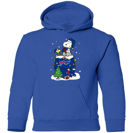 A Happy Christmas With New York Giants Snoopy Youth Hoodie