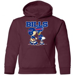 Buffalo Bills Let's Play Football Together Snoopy NFL Youth Hoodie