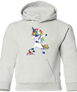 Football Dabbing Unicorn Steps On Helmet Buffalo Bills Youth Hoodie