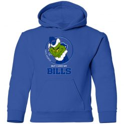 I Hate People But I Love My Buffalo Bills Grinch NFL Youth Hoodie