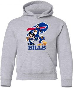 Mickey Donald Goofy The Three Buffalo Bills Football Youth Hoodie