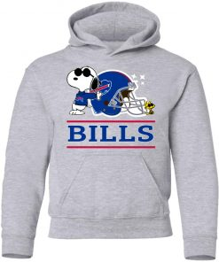 The buffalo Bills Joe Cool And Woodstock Snoopy Mashup Youth Hoodie