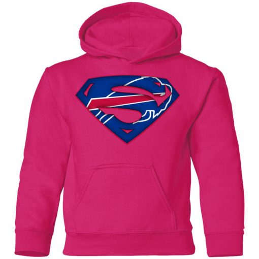We Are Undefeatable The Buffalo Bills x Superman NFL Youth Hoodie