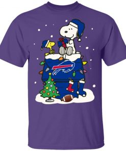 A Happy Christmas With New York Giants Snoopy Men's T-Shirt