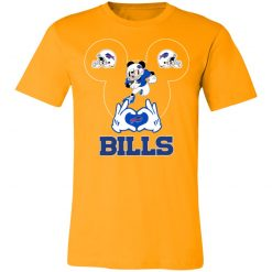 I Love The Bills Mickey Mouse Buffalo Bills Unisex Jersey Tee