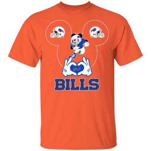 I Love The Bills Mickey Mouse Buffalo Bills Youth T-Shirt