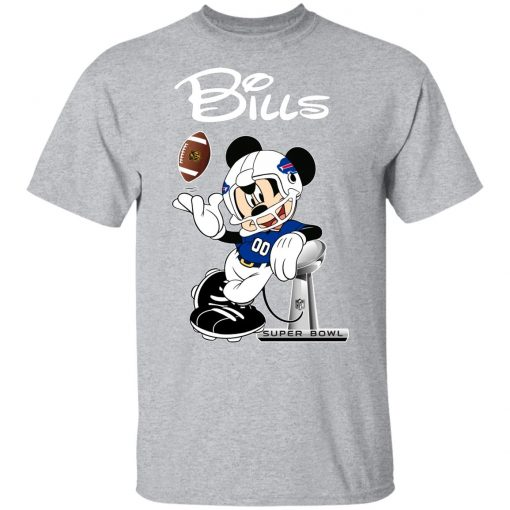 Mickey Bills Taking The Super Bowl Trophy Football Youth T-Shirt
