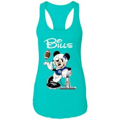 Mickey Bills Taking The Super Bowl Trophy Football Racerback Tank